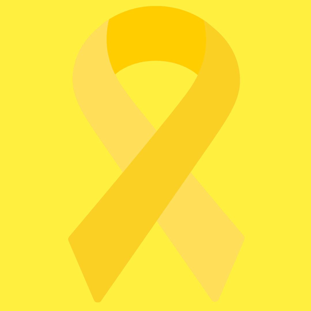 yellow endometriosis ribbon