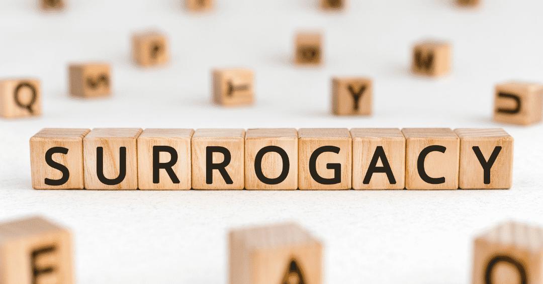 woodern blocks spelling Surrogacy