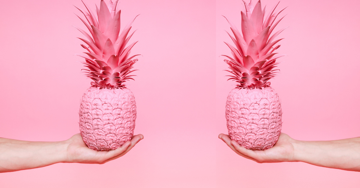 two pink pineapples being held in an outstreached hand on a pink background Wholesome IVF and fertility memes for when you're feeling fragile