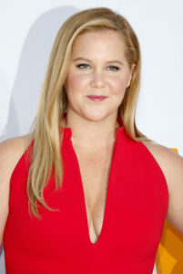 Amy Schumer in a red dress